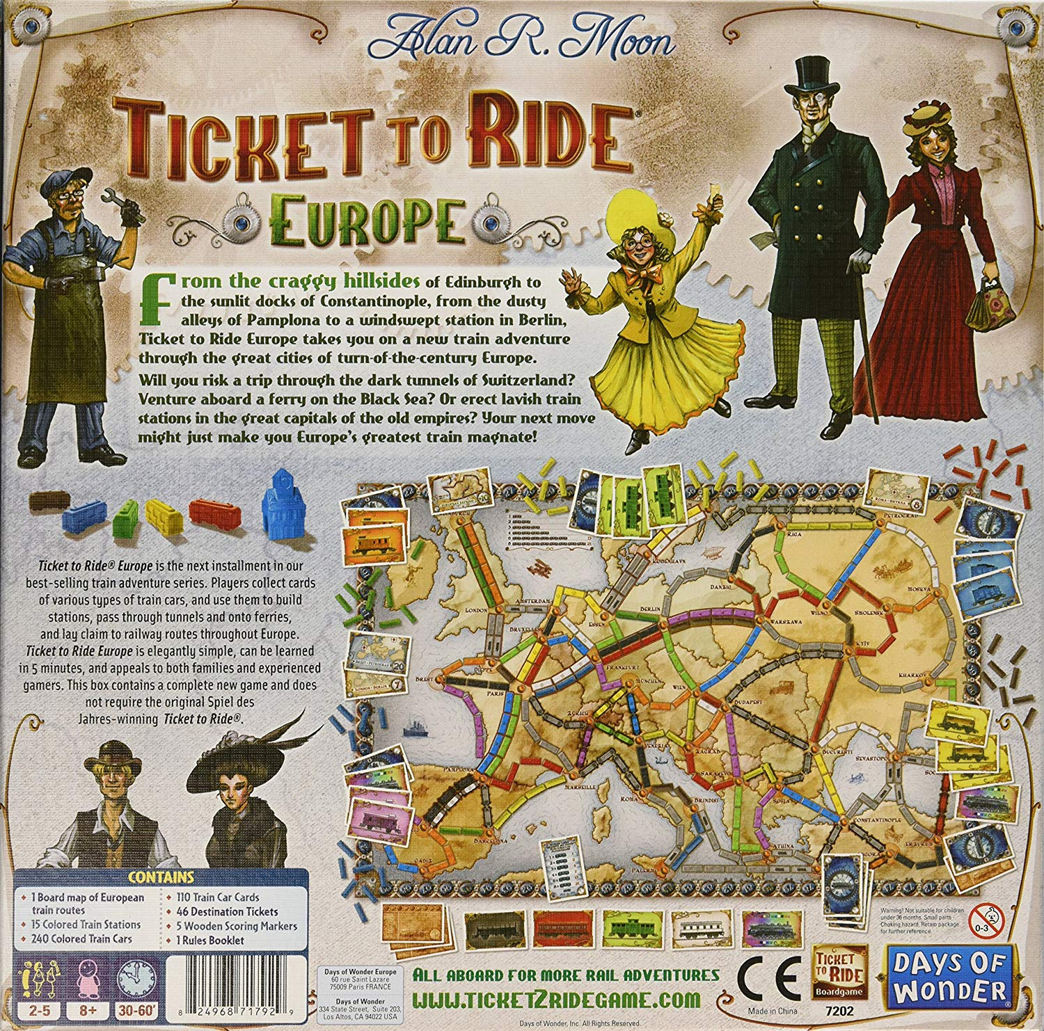 Ticket To Ride Europe The Wandering Pawn